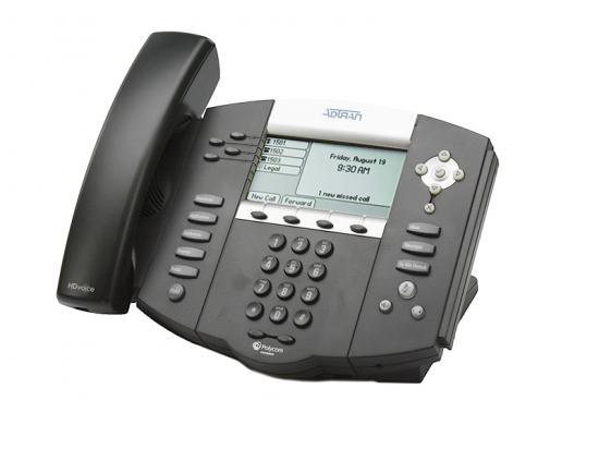 Adtran Polycom SoundPoint 550 Black IP Display Speakerphone