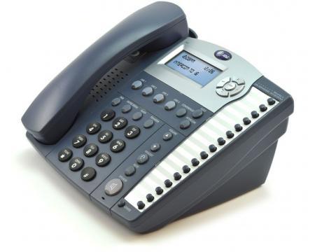 AT&T 945 16-Button Titanium Blue Digital Display Speakerphone - Grade A