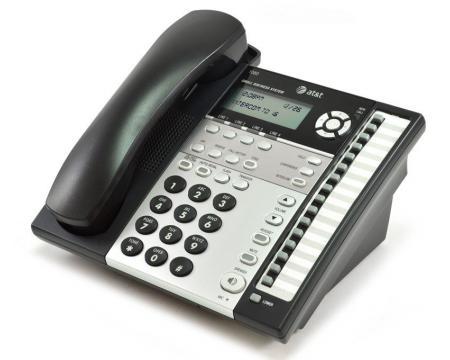 AT&T 1080 16-Button Black Analog Display Speakerphone - Grade A