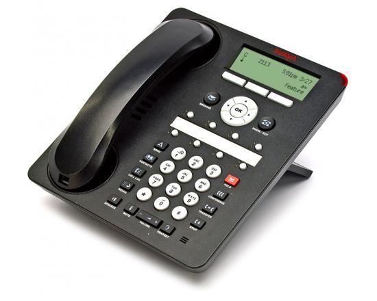 Avaya 1408 Black Digital Display Speakerphone - Grade A