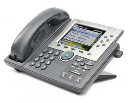 Cisco Unified 7965G Charcoal Gigabit IP Display Speakerphone - Grade A