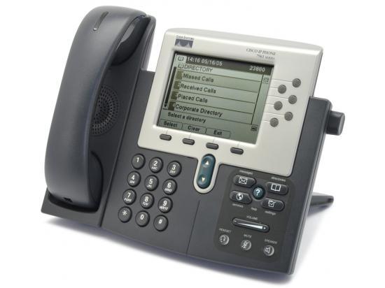 Cisco CP-7961G Charcoal IP Display Speakerphone - Grade A