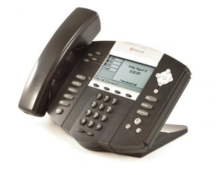Polycom SoundPoint IP 550 PoE Backlit Display Phone (2201-12550-025) - Grade B