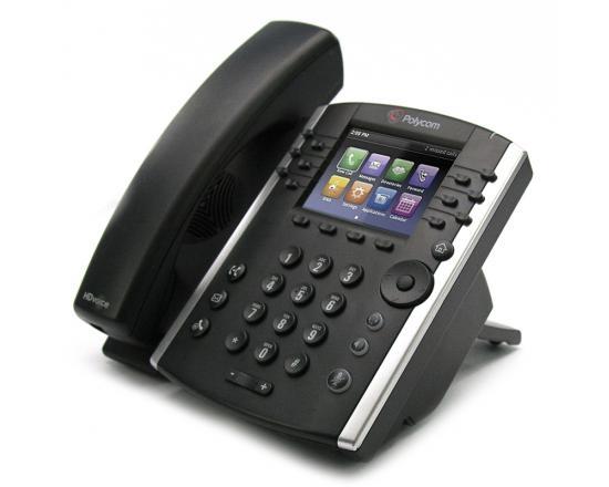 Polycom VVX 411 Black 12-Line PoE VoIP Gigabit Phone (2200-48450-025) - Grade A