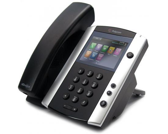 Polycom VVX 501 12-Line VoIP Touchscreen Display Phone (2200-48500-025) - Grade A