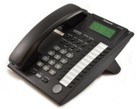 Panasonic KX-T7736 24-Button Black Display Phone