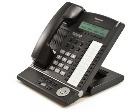 Panasonic KX-T7630-B 24 Button Digital Display Telephone Charcoal