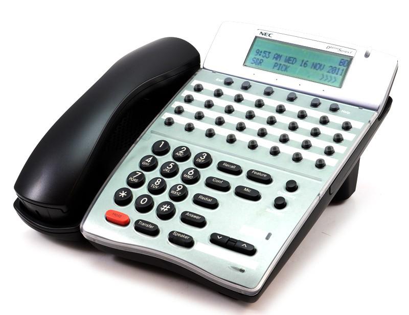 NEC Dterm Series E Office Desk 32 Button Phone Telephone DTP-32D-1 BK TEL