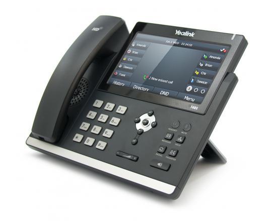 Yealink Ultra-Elegant 16-Line Touchscreen Display VoIP Speakerphone (SIP-T48S)