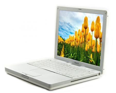 "Apple iBook G4 A1133 12"" Laptop PowerPC (7447a) 1.33GHz 512MB DDR No HDD - Grade B"