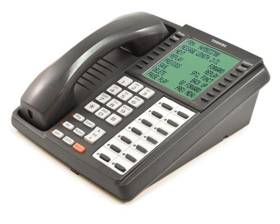 Toshiba Strata DKT3014-SDL 14-Button Charcoal Large Display Speakerphone