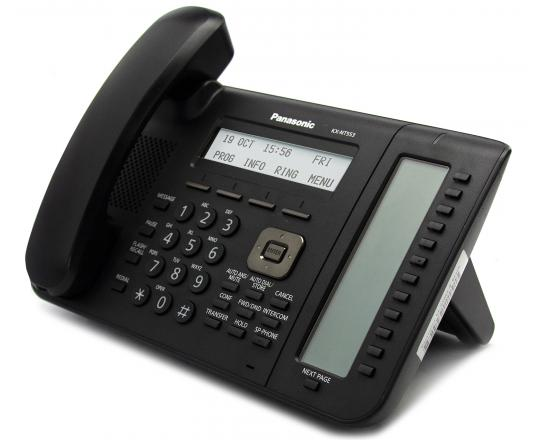 Panasonic KX-NT553-B 12-Button Black IP Display Speakerphone