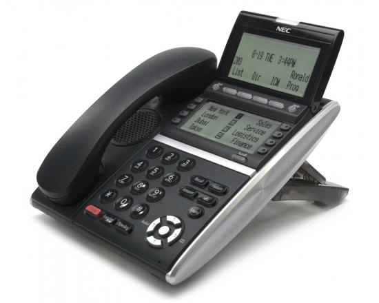NEC DT830 ITZ-8LD-3 Black 8-Button IP Display Phone