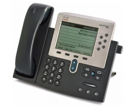 Cisco CP-7962G Charcoal IP Display Speakerphone - Grade B