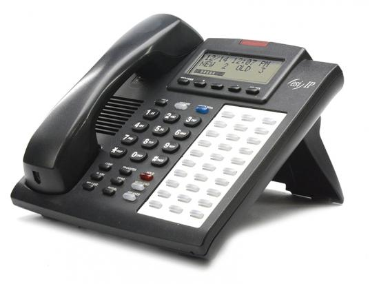 ESI 48-Key FD IPFP Charcoal Phone w/ Headset Jack (5000-0532)