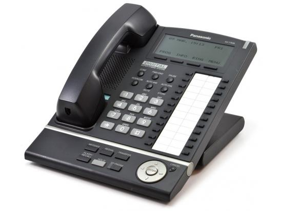 "Panasonic KX-T7636-B Black 24-Button Backlit Display Speakerphone ""Grade B"""