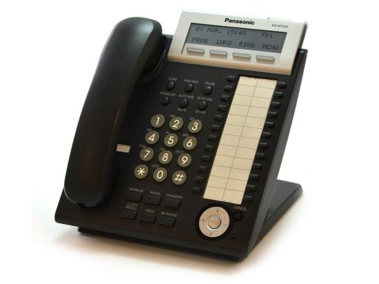 Panasonic KX-NT343-B Backlit LCD IP VoIP Phone Black