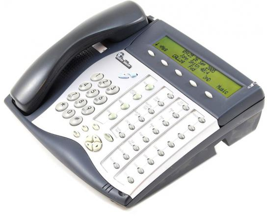 "Tadiran Coral Flexset 281S Charcoal Display Phone - Silver Face ""Grade B"""