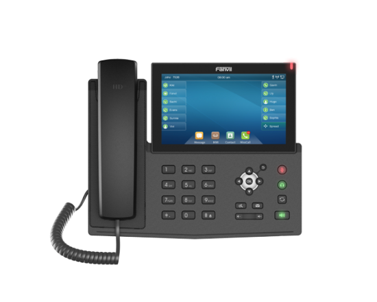 Fanvil X7 Black Gigabit IP Touch Screen Speakerphone
