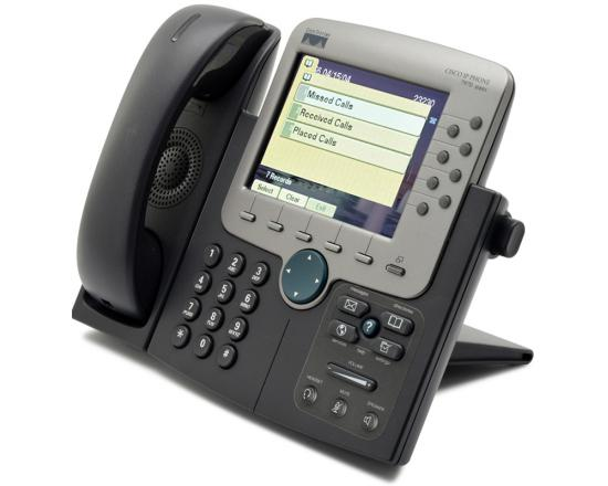 Cisco CP-7970G Charcoal IP Color Display Speakerphone - Grade B