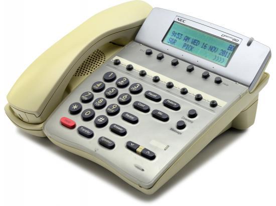 NEC Dterm Series i DTR-8D-1 White Display Speaker Phone (780041)