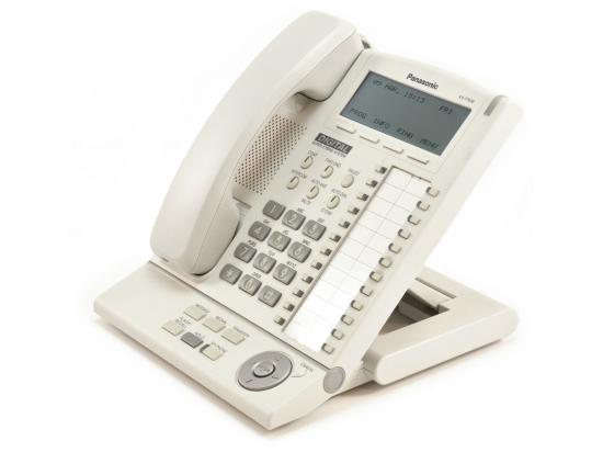 Panasonic KX-T7636-W White 24-Button Backlit Display Speakerphone - Grade B